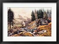 Framed Gold Mining in California
