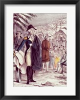 Framed George Washington at Valley Forge