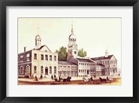 Framed Independence Hall, Philadelphia, 1776