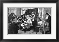Framed Performing the Operation of the Transfusion of Blood at the Hospital of Pity