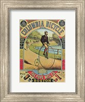 Framed Advertisement for the Columbia Bicycle