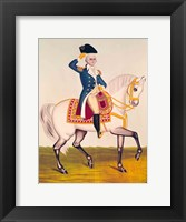 Framed General Washington on a White Charger