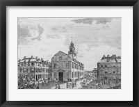 Framed South West View of The Old State House, Boston, 1881