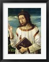 Framed Christ Blessing