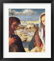 Framed Madonna and Child with St.John the Baptist and a Saint