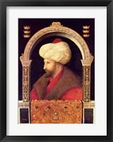Framed Sultan Mehmet II