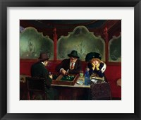 Framed Backgammon Players