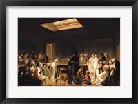 Framed Game of Billiards, 1807