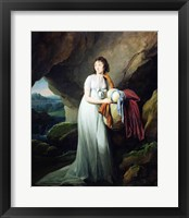 Framed Portrait of a Woman in a Cave