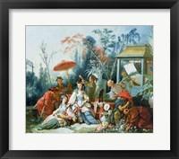 The Chinese Garden, c.1742 Framed Print
