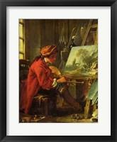 Framed Painter in his Studio