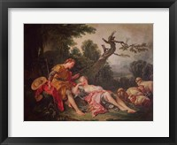 Framed Sleeping Shepherdess
