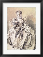 Framed Woman in Spanish Costume