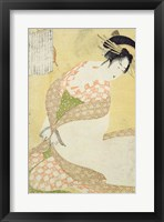 Framed Courtesan Kneeling