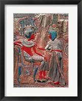 Framed back of the throne of Tutankhamun