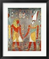 Framed Relief depicting Horemheb