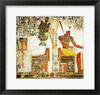 Framed Gods Osiris and Atum, from the Tomb of Nefertari