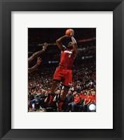 Framed LeBron James 2010-11 Playoff Action