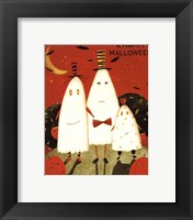 Framed Happy Halloween Ghosts