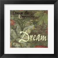 Framed Pressed Leaf Dream