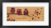 Framed Good Night Owl