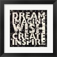 Framed Marble Dream Wish Inspire