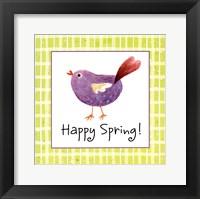 Framed Purple Chick