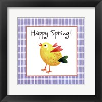 Framed Yellow Chick
