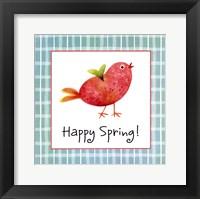 Framed Red Chick