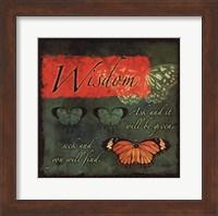 Framed Butterfly Sentiments...Wisdom