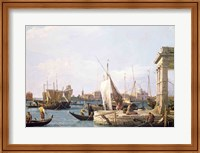 Framed Punta della Dogana, 1730
