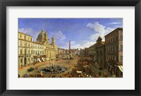 Framed View of the Piazza Navona, Rome