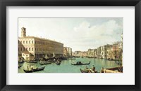Framed Grand Canal from the Rialto Bridge