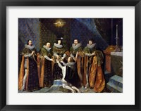 Framed Louis XIII Receiving Henri d'Orleans