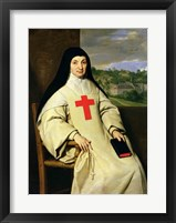 Framed Mother Angelique Arnauld Abbess of Port-Royal, 1654