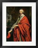 Framed Portrait of Cardinal de Richelieu