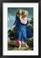 Framed Good Shepherd walking