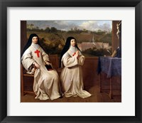 Framed Two Nuns
