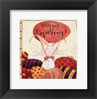 Framed Spring Bunny Holding Egg