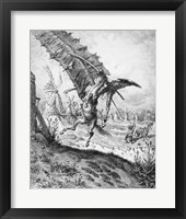 Framed Don Quixote and the Windmills
