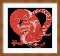 Framed Red Dragon