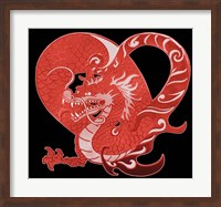 Framed Red Dragon
