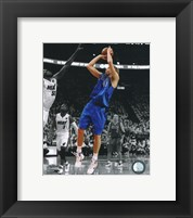 Framed Dirk Nowitzki Game 1 of the 2011 NBA Finals Spotlight Action