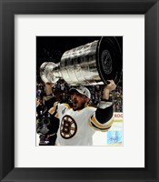 Framed Brad Marchand with the Stanley Cup  Game 7 of the 2011 NHL Stanley Cup Finals(#47)