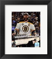 Framed Zdeno Chara with the Stanley Cup  Game 7 of the 2011 NHL Stanley Cup Finals(#42)