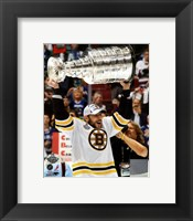 Framed Milan Lucic with the Stanley Cup  Game 7 of the 2011 NHL Stanley Cup Finals(346)