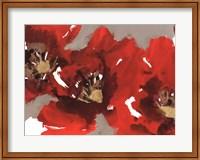 Framed Red Poppy Forest I
