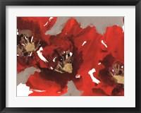 Red Poppy Forest I Framed Print
