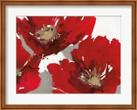 Framed Red Poppy Forrest II