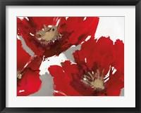 Framed Red Poppy Forrest II